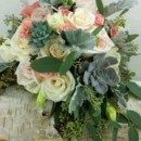 130x130 sq 1459656058436 bb1172 blush and ivory rose and succulant garden w