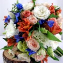 130x130 sq 1459656167659 bb0881 coral and royal blue wedding bouquet