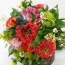 130x130 sq 1459656182167 bb0993 coral pink and green summer brides bouquet