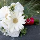 130x130 sq 1459656630078 bb0599 white gerbera daisy white rose and rhinesto