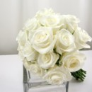 130x130 sq 1459656646556 bb0876 hand tied white rose bouquet