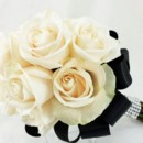 130x130 sq 1459656655825 bb0955 black ivory and rinestone bridesmaids bouqu