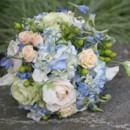 130x130 sq 1459656782125 bb0577 blue hydrangea champagne and ivory rose bri