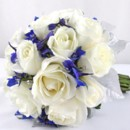 130x130 sq 1459656812643 bb0853 winter white rose and blue brides bouquet