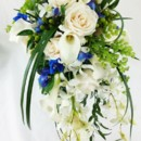 130x130 sq 1459656827189 bb0965 white and blue modern garden cascade bouque