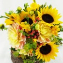 130x130 sq 1459657072018 bb1002 yellow and coral bridal bouquet