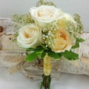 130x130 sq 1459657080750 bb1180 vintage ivory and gold bridesmaids bouquet