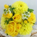 130x130 sq 1459657085467 bb1184 yellow rose and dahlia bridesmaids bouquet