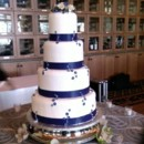 130x130 sq 1385347863700 white and blue wedding cak