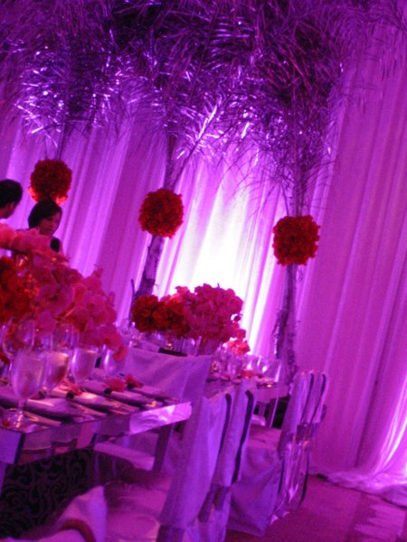 Pink Purple Red Silver Centerpiece Wedding Flowers Photos Pictures