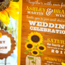 130x130 sq 1463151950482 rusticsunflowerwoodmasonjarweddinginvitations5