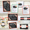 130x130 sq 1464236079039 vintagechalkboardfloralweddinginvitations