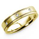 130x130 sq 1467377233980 diamond eternity satin wedding band ring yellow go