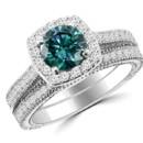 130x130 sq 1467377287541 blue diamond halo ring set