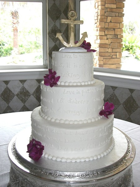 wedding cake love poem the cake destination destin fl wedding cake 23098