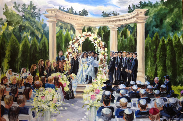 event painting by katherine brooklyn ny wedding other On the rockleigh wedding cost