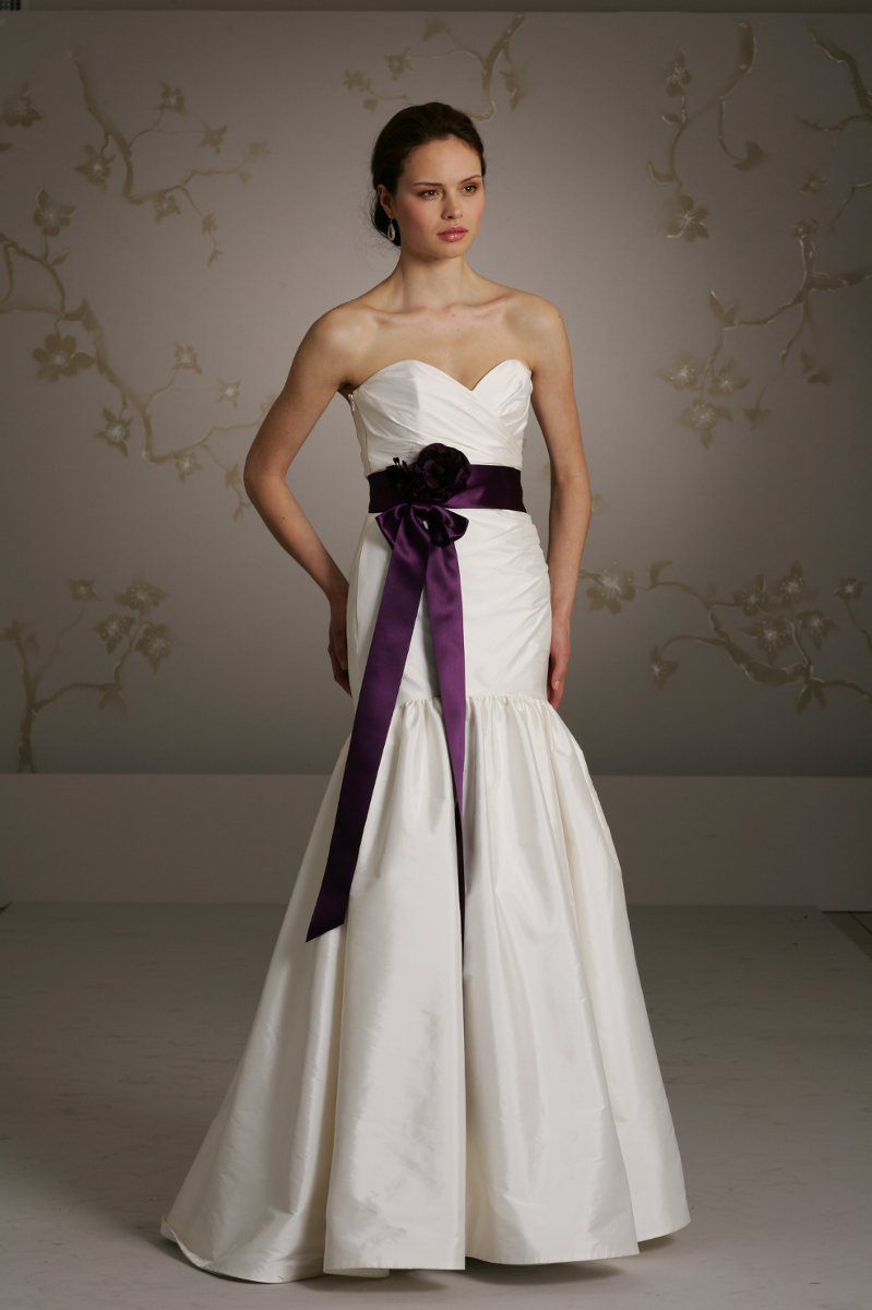 Wedding photos wedding pictures for Purple and ivory wedding dresses