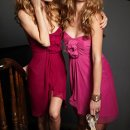 Style JH5213  <br /> Candy Apple chiffon strapless A-line bridesmaid dress, curved neckline, gathered empire bodice with flower detail.  <br /> Available Colors: Black, Blush, Bordeaux, Burgundy, Candlelight, Caribbean, Cashmere, Cornflower, Eggplant, Indigo, Ivory, Melon, Mocha, Moss, Papaya, Raspberry, Rose, Sage, Silver, Teal, Violet, White, Mink, Ice Blue, Frosted Violet, Fuchsia, Azalea, Cobalt, Candy Apple, Buttercup.  <br /> Flower: (Regular Chiffon) Azalea, Black, Bordeaux, Candy Apple, Cobalt, Eggplant, Indigo, Ivory, Raspberry, and Violet.