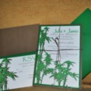 Natural Green and Brown Bamboo Wedding Invitations by Pretty Peacock Paperie ~ Orlando wedding invitations