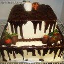 130x130 sq 1342880609963 whtblkgroomscake