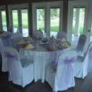 130x130 sq 1347638213131 200908155837purpleyellowtablesetting