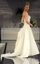 Style: Chlothilde Memory taffeta ballgown with beaded, banded bodice and beaded back bow