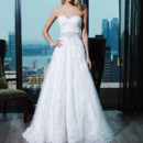 Style 9764 Corded lace ball gown embellished with a sweetheart neckline