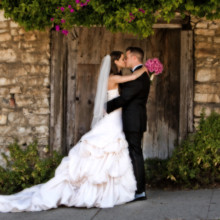 220x220 sq 1502838408862 perry house bride and groom pose in front of stone