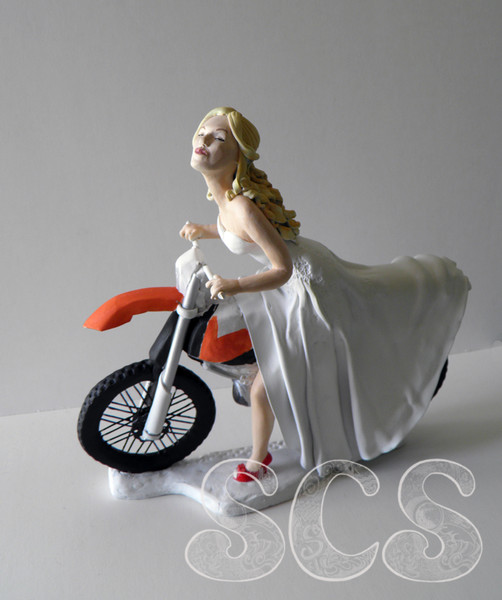 dirt bike wedding cake toppers cartier sculpture custom wedding cake topper 13535