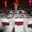 The event was decorated with Beautiful in silver and cherry red color table linens and pinwheel chair cover, tied in a bow style to bring out the femininity of the celebrant. The centerpieces were accentuated with crystal chandelier fresh flower centerpiece. An event of 500 guests, it was definitely an event of class and glamour.