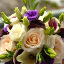130x130 sq 1374099923995 cream and purple posy