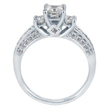 <b>1ct TW Three-Diamond Engagement Ring, IGI Graded</b> <br /> 14kt White Gold 1ct TW Princess Cut Three-Diamond Engagement Ring, IGI Graded Helzberg Radiant Star®
