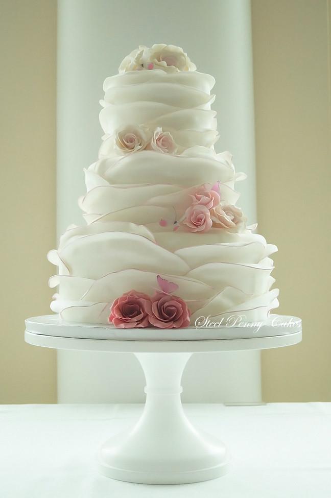 Weddingwire Custom Cake Design : Steel Penny Cakes - Wedding Cake - Mount Pleasant, PA ...