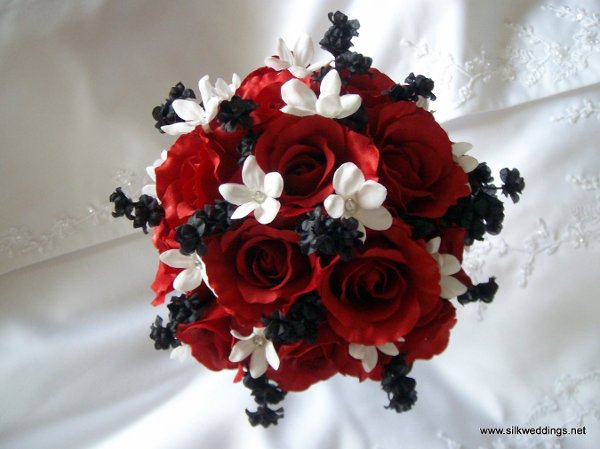 Black Red White Bouquet Wedding Invitations Photos Amp Pictures