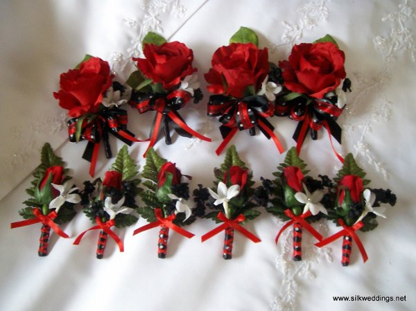 Black Red White Boutonniere Wedding Flowers Photos Amp Pictures