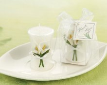 Calla Lily Elegance Vase Shapped Candle