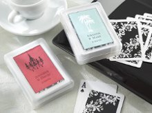 """Perfectly Suited"" Personalized Playing Cards in Travel Case"