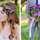130x130 sq 1418439168861 flower crown and bouquet by third bloom