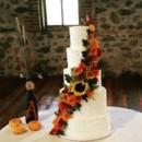 130x130 sq 1478026389150 5 tier wedding cake fall flowers cascading
