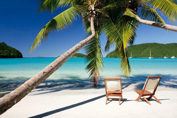 Relax on one of many sandy white beaches while enjoying the absolute serenity of your St. Croix honeymoon.