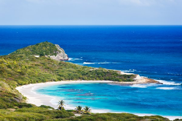 Antigua's Half Moon Bay is famed as one of the best on the island.  Plentiful coral reef restrains the Atlantic surf, making it a perfect location for snorkeling!