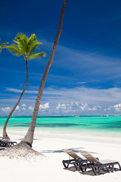 The white-sand beaches of the Dominican Republic are a sun-lover's paradise.