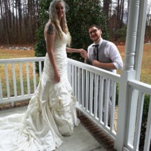 220x220 sq 1426470270108 bride  groom on the porch