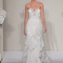 Sweetheart Sheath Gown in Beaded Embroidery This sheath gown features a sweetheart neckline with a natural waist in beaded embroidery and chantilly lace. It has a sweep train. This gown is Exclusive to Kleinfeld Bridal. Style Number:32614398