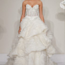 Sweetheart A-Line Gown in Silk Organza This a-line gown features a sweetheart neckline with a natural waist in silk organza and beaded embroidery. It has a chapel train. This gown is Exclusive to Kleinfeld Bridal. Style Number:32614240