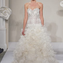 Sweetheart A-Line Gown in Silk Organza This a-line gown features a sweetheart neckline with a dropped waist in silk organza and beaded embroidery. It has a cathedral train. This gown is Exclusive to Kleinfeld Bridal. Style Number:32614232