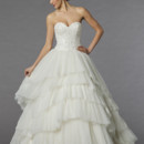 Mark Zunino Style 74534  Off White, tulle beaded embroidered ball gown