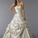 Perla D Style 12006  Off White, satin A-line