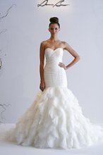DENNIS BASSO Sweetheart Mermaid Wedding dress with dropped waist in Organza