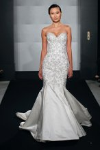 MARK ZUNINO Sweetheart Mermaid Gown in Silk Duchess Satin